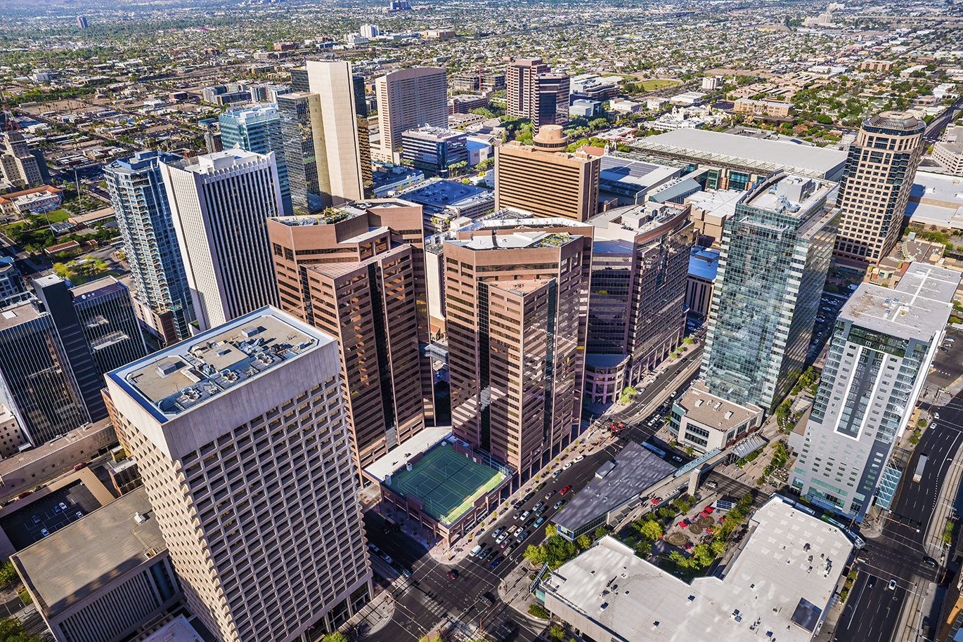 Phoenix-Arizona-downtown-cityscape-skyline-aerial-view-of-skyscrapers-000039872794_Full