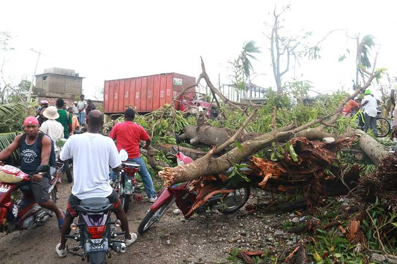 wind damage in haiti