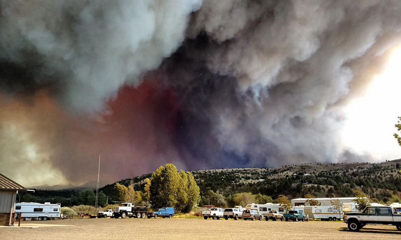 The Canyon Creek Complex fire on August 14, 2015