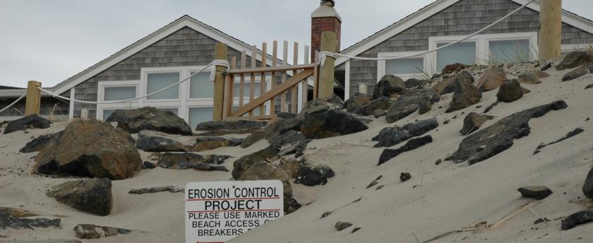 rocks protecting beachfront homes in tillamook county, oregon