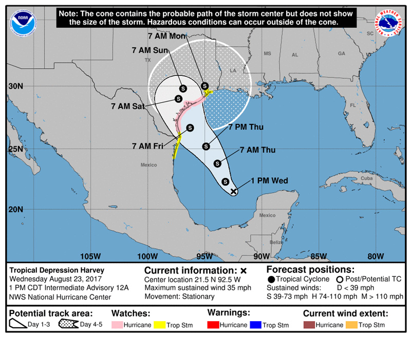 tropical depression harvey