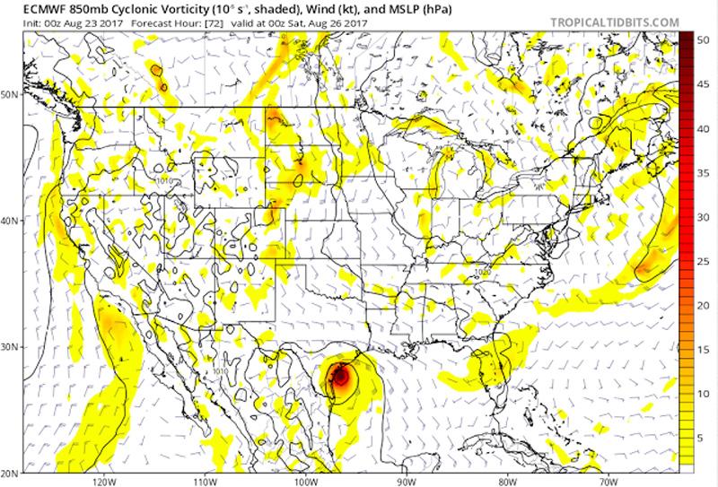 snapshot forecast for harvey