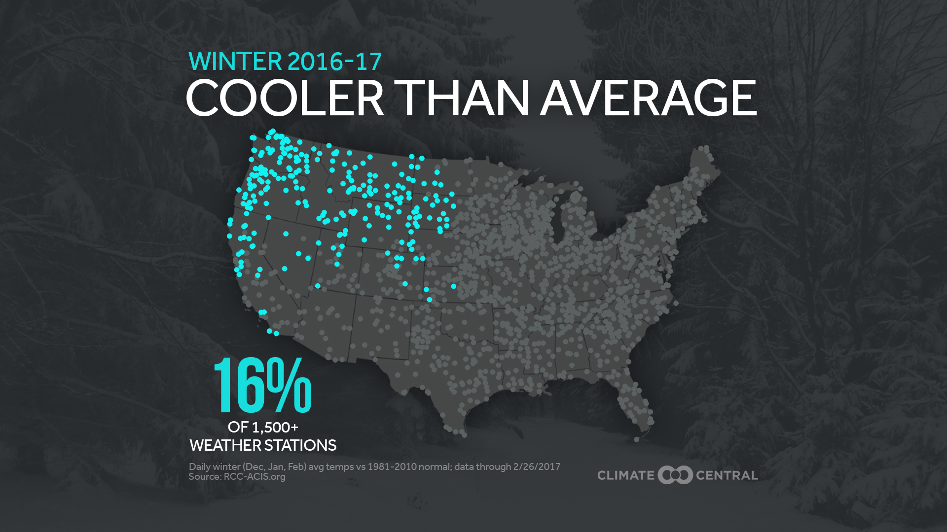 Cooler than average U.S. cities