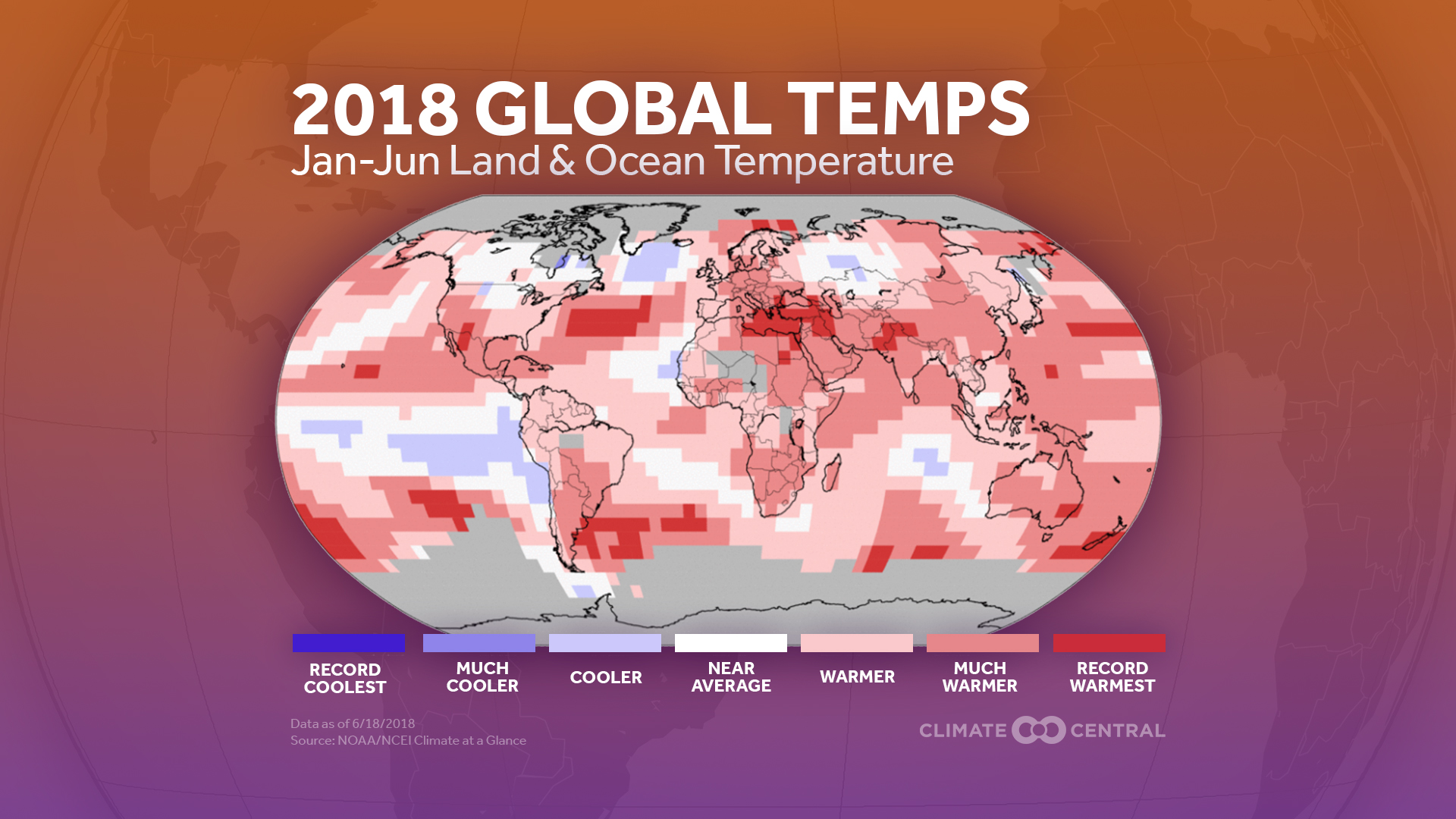 map of global heat in 2018