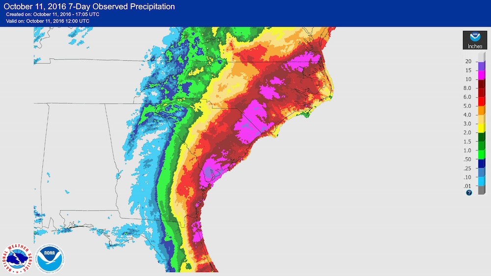 Hurricane Matthew rainfall