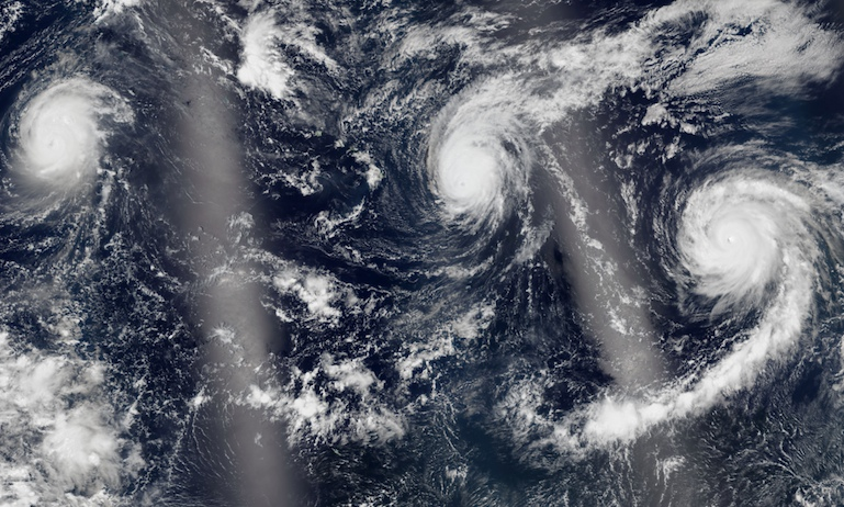 Pacific storms July 2015