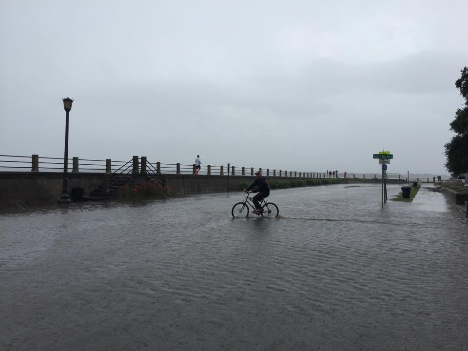 Downtown Charleston, South Carolina flooding