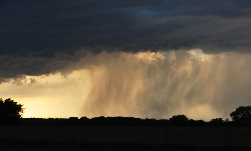 Rain cloud in Oklahoma