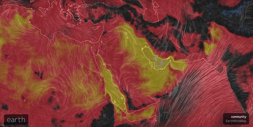 heat wave in the Persian Gulf region