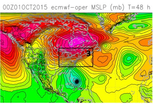 The ECMWF forecast for 1200UTC (8AM EDT) Oct 3
