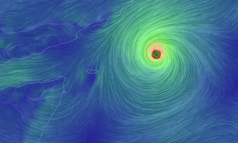 Cyclone Chapala spins over the Arabian Sea