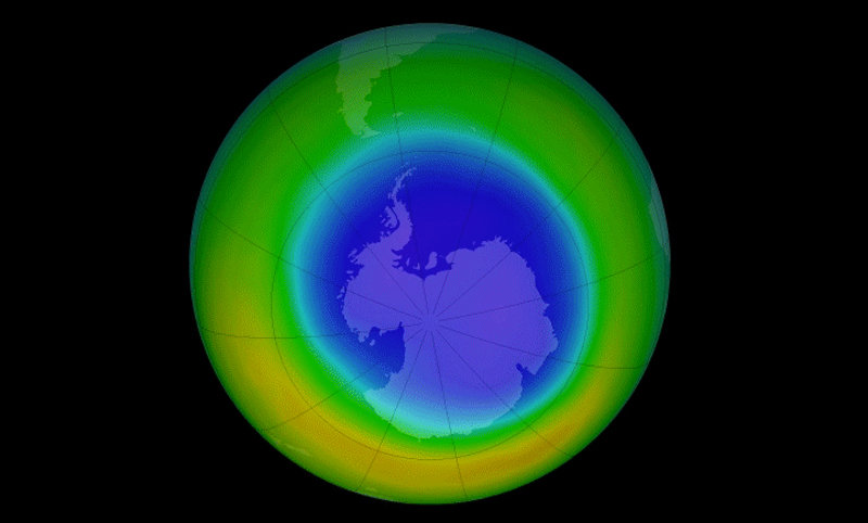 ozone hole in September 2014