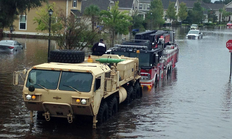 Charleston floods, October 2015 due to Hurricane Joaquin
