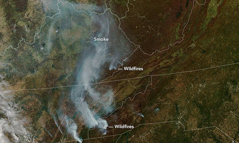 wildfires from space