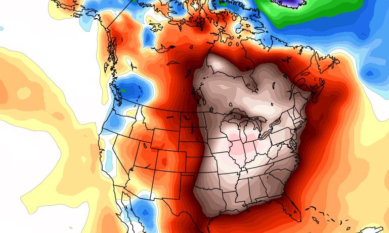 U.S. temperature anomaly Christmas