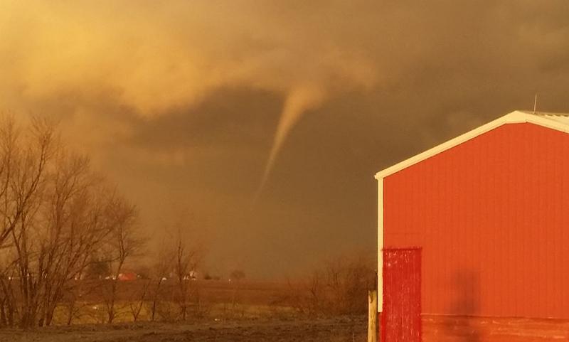 Tornado over Sciota, IL