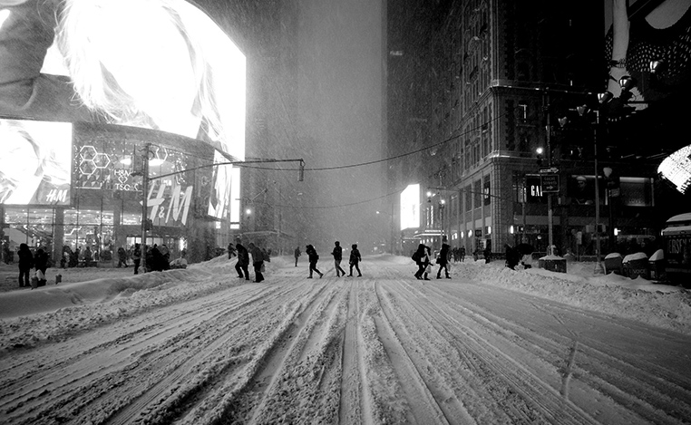 Time Square blizzard 2016