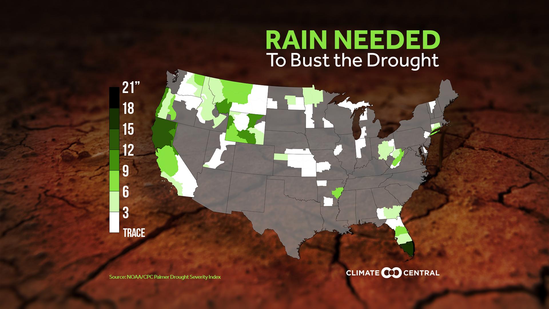 CONUS drought map, November 2015