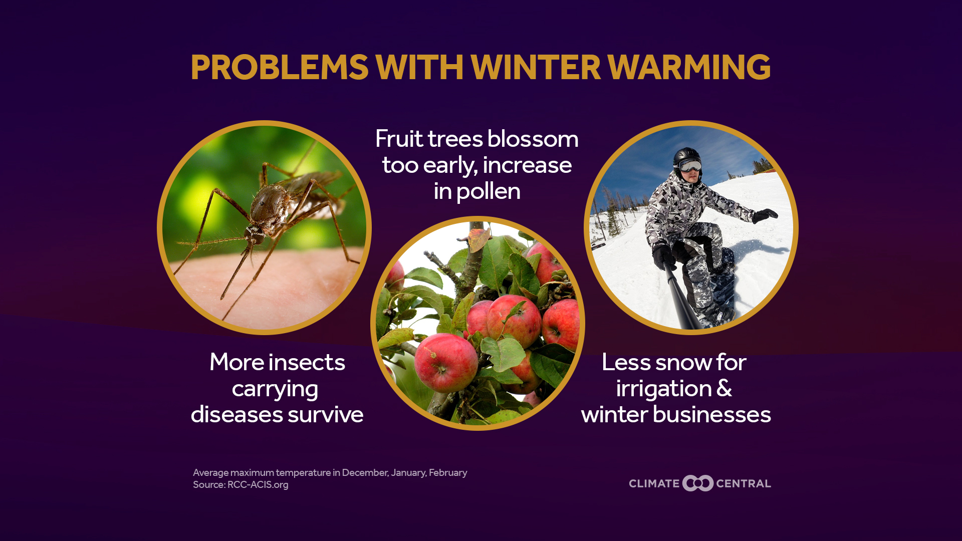 problems with warming winters