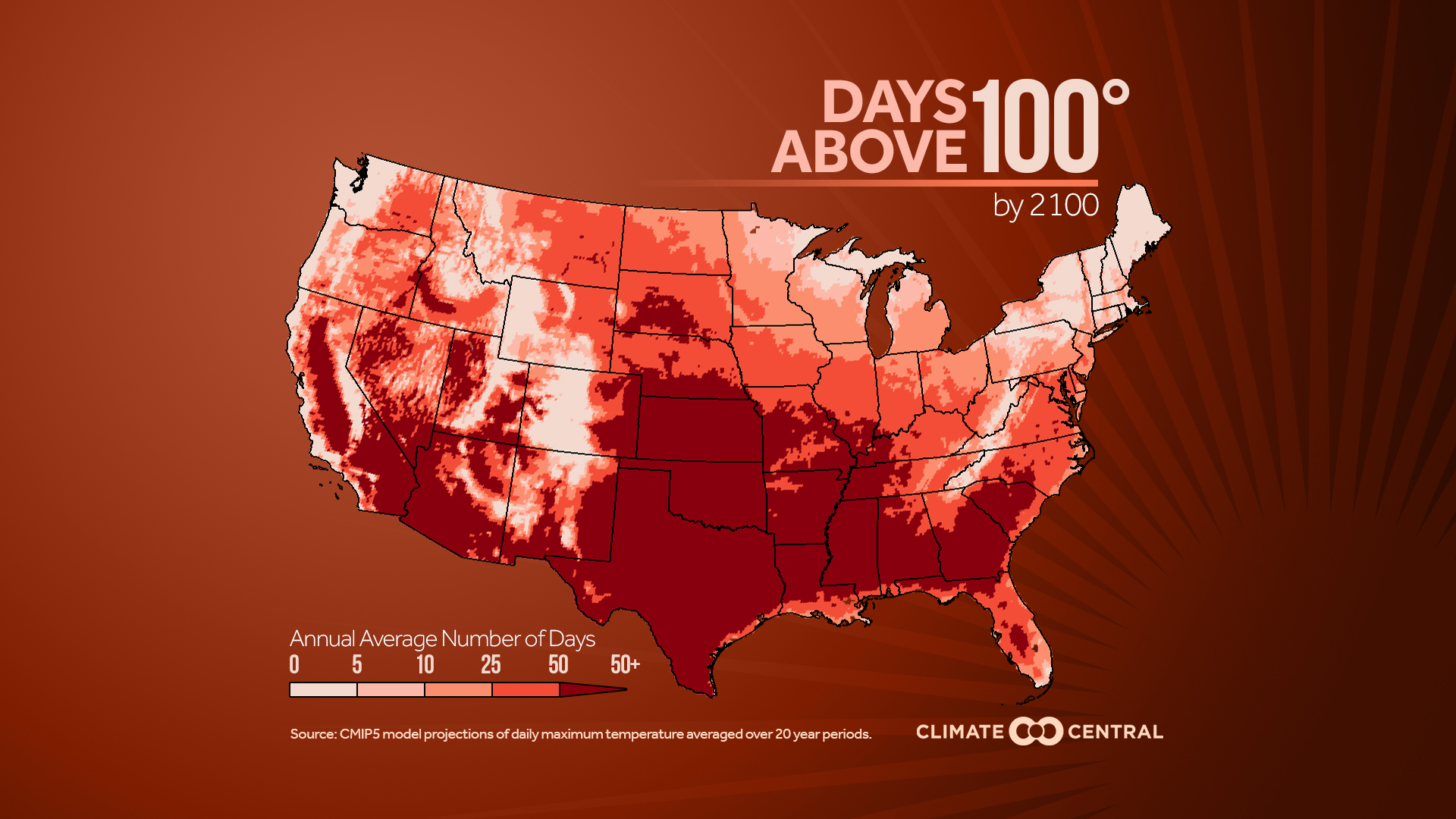 This is how hot the United States could be in the future