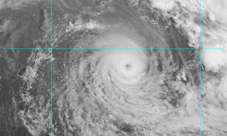Cyclone Winston satellite