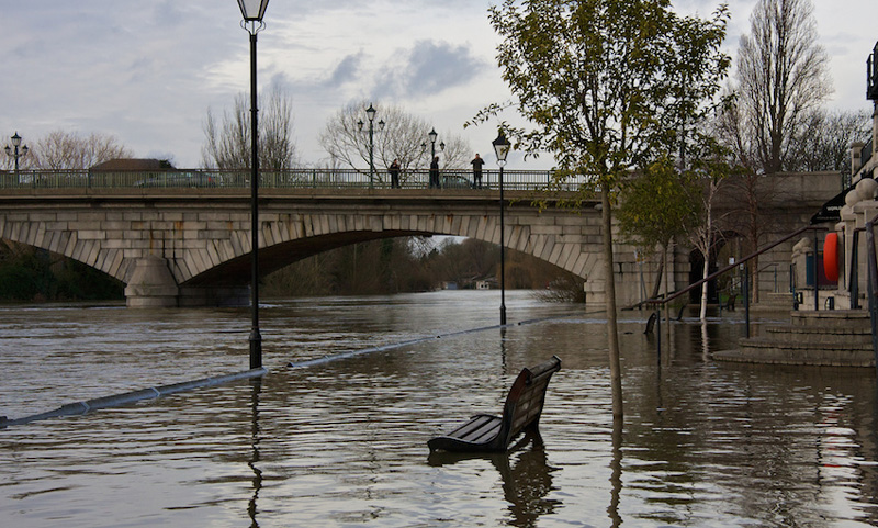 heavy downpours caused flooding in U.K.