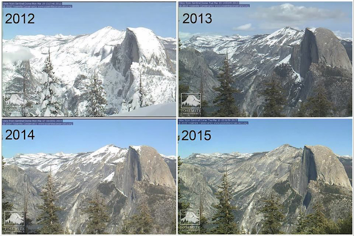 Webcams in Half Dome