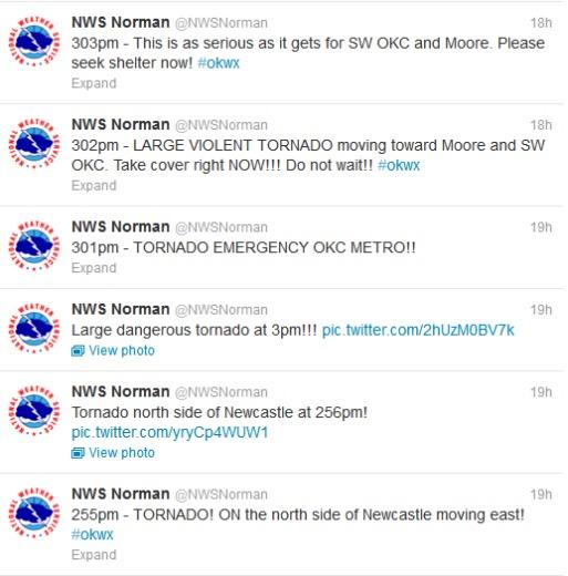 Norman NWS tweets