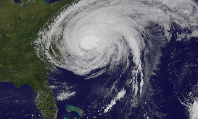Satellite image of Hurricane Irene