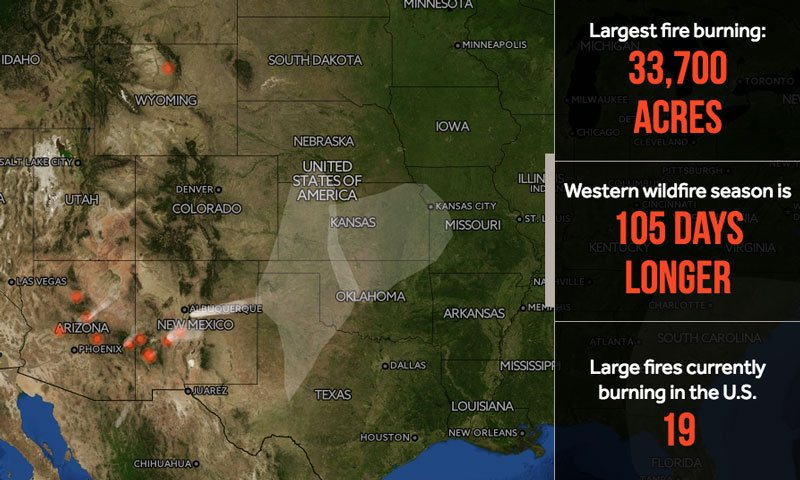 Everything You Need To Know About Wildfires In One Map Wxshift