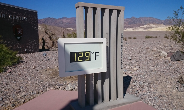 Death Valley temperature