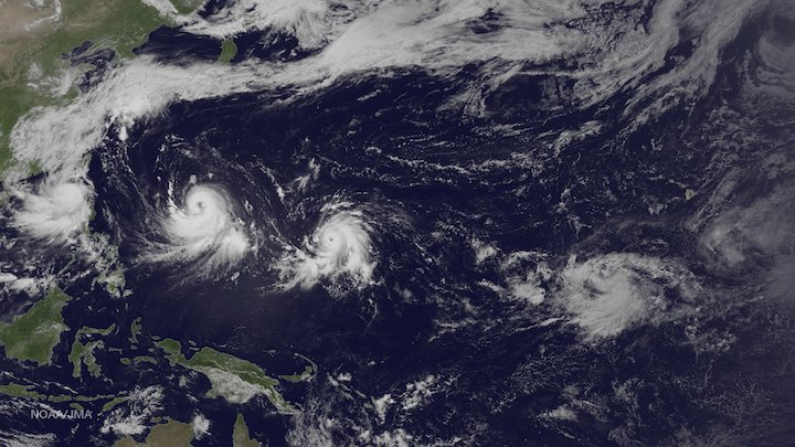 Tropical cyclones in the Pacific Ocean