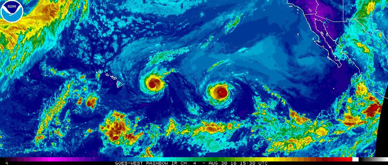 Hawaii Faces a Rare Dual Hurricane Threat Through This Weekend
