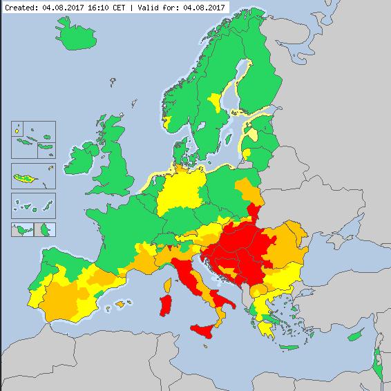 heat in europe