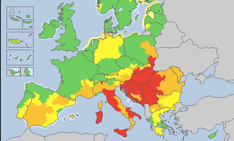 europe heat