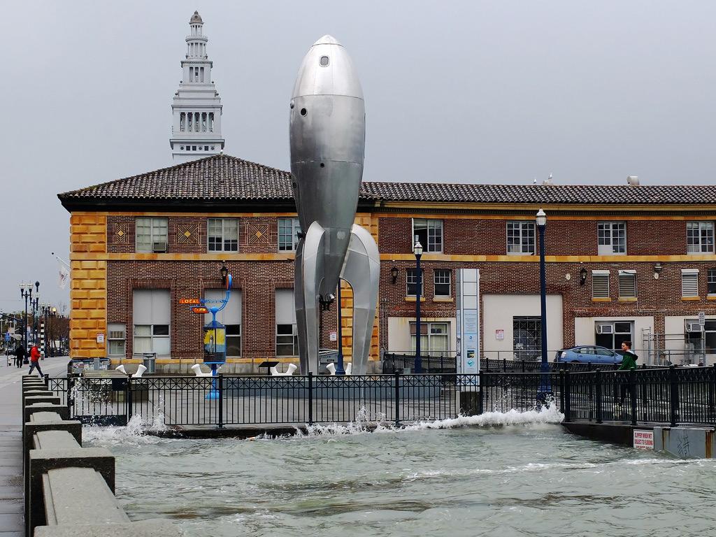 King Tide raises sea levels in San Francisco.