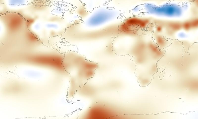 August 2015 Temperatures
