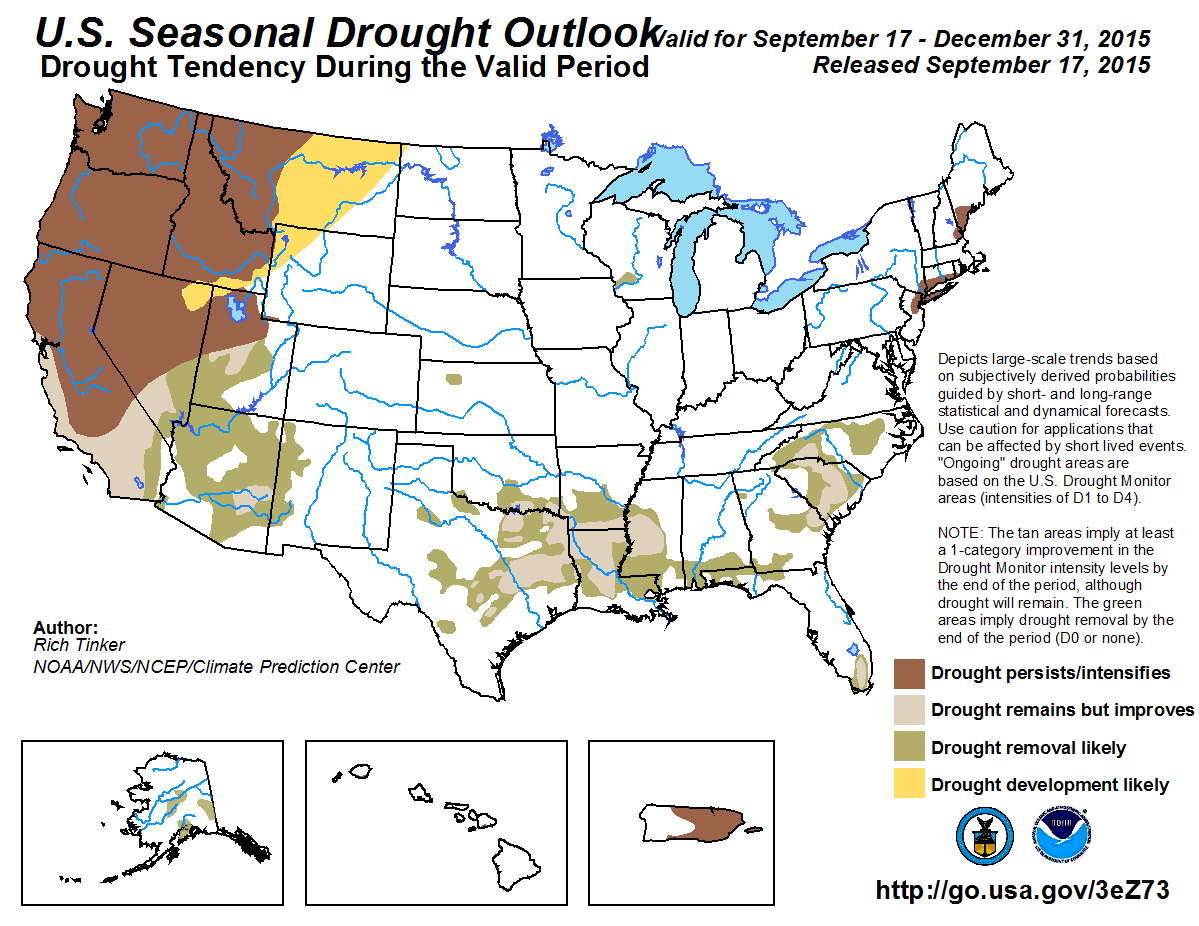 One Map Shows California Could Finally See Some Drought Relief - Drought forecast us map