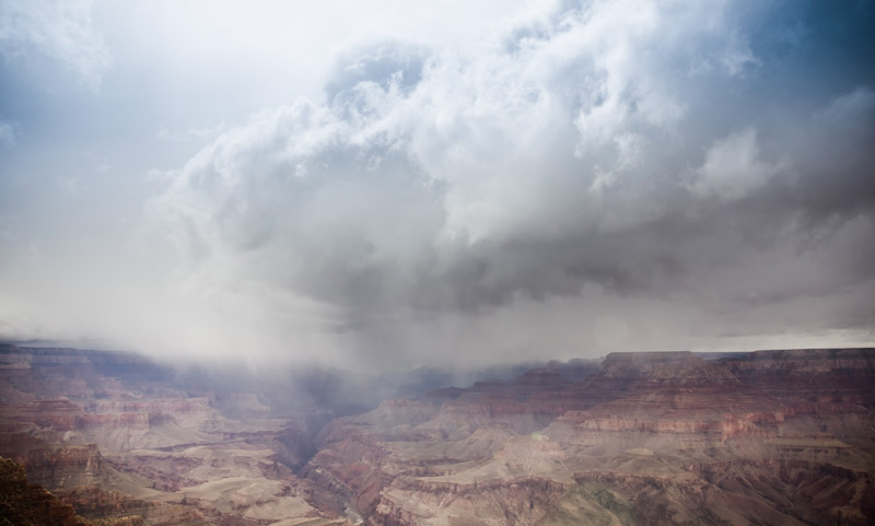 Rainfall over the Grand Canyon in 2011