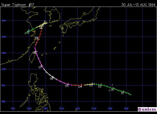 Typhoon Doug, 1994
