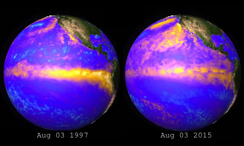 El Nino comparison between 1997 and 2015